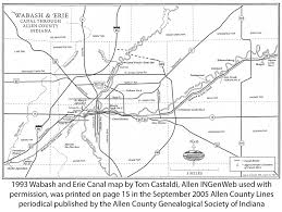 map of the erie canal wabash and erie canal of allen county indiana on allen ingenweb