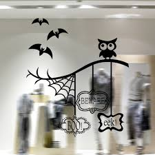 halloween wall decor art mural owls on the tree branch wall decal