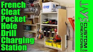Hanging Charging Station French Cleat Pocket Hole Drill Charging Station 135 Youtube