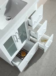 design element bathroom vanities stanton 32 inch contemporary white bathroom vanity set