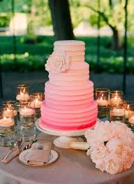 wedding cake no fondant the ombre color and the non fondant decoration wedding