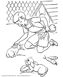pets coloring pages free printable rabbit eating carrots