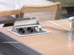 prise electrique encastrable plan de travail cuisine franke evoline prise electrique escamotable fliptop 012074