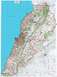 lebanon on the map map of lebanon detailed
