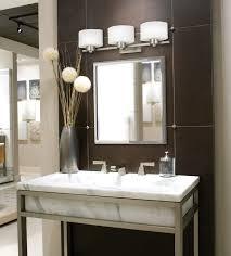 Mirror With Light Bathroom Mirror With Light Bulbs Dual Dark Wood Vanities In Tan