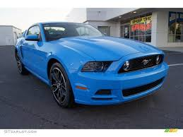 2013 mustang gt blue 2013 grabber blue ford mustang gt premium coupe 64288897 photo 2