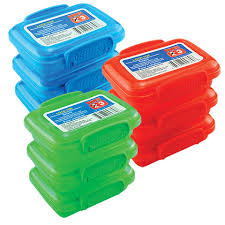bulk plastic snack containers with lock top lids 3 ct packs at