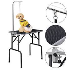 table top grooming table new 32 adjustable pet dog cat grooming table top foam w arm noose