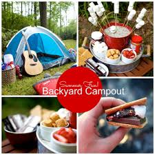 party theme backyard camping party u2014 martie duncan