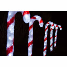 outdoor 5 pieces holiday christmas decor 150 led candy cane