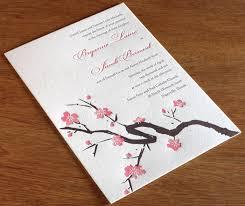 cherry blossom wedding invitations cherry blossom wedding invitation gallery invitations
