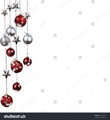 bright red silver christmas tree balls stock photo 119977054