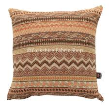 maasai african aztec inspired small motif striped pattern brown