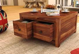 Coffee Table Buy Coffee Tables Online At Upto  Off In India - Teak dining table and chairs india