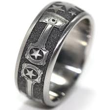 titanium men titanium and piston wedding ring titanium buzz
