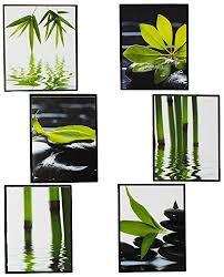 badezimmer bambus 6 tlg set fliesensticker badezimmer wandtattoo eckig