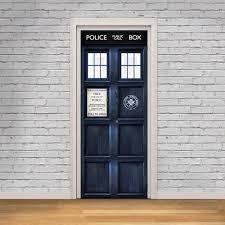 Cabinet Door Decals by Tardis London Police Box Self Adhesive Door Decal Vinyl Sticker