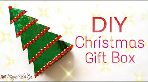 diy crafts christmas gift box making tutorial ideas for