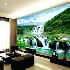 home decor app 3d home decor wallpaper mural waterfall nature bedroom living room