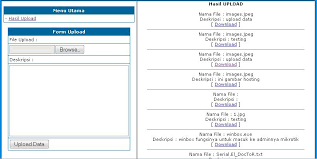 membuat database sederhana menggunakan xp web design upload dan download data dari database cv fr system