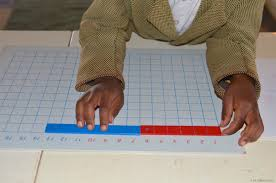 montessori writing paper the montessori strip addition board the troutbeck school 6 7 equals