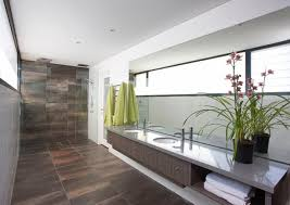 perfection floor tile bathroom contemporary with black window trim