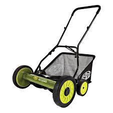 sun joe 16 inch manual reel mower with catcher u2013 mj500m