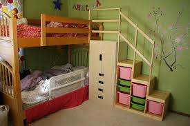 How To Build A Loft Bunk Bed With Stairs by Easy Full Height Bunk Bed Stairs Ikea Hackers Ikea Hackers