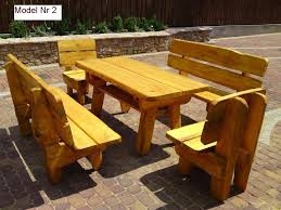 Wooden Table Chairs How To Build A Garden Bench Home Outdoor Decoration