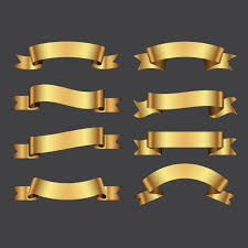 gold ribbons golden ribbons pack vector free