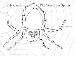 superb eric carle busy spider coloring spider