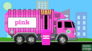 garbage trucks teaching colors learning basic colours video