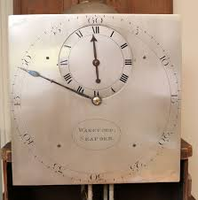 small country longcase clock with unusual regulator style dial c