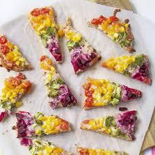 cuisiner la vive comment faire une pizza arc en ciel à table