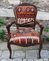 Outdoor Kilim Rug by Hizhali Rug Store Classic Chair Covered With Kilim