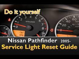 service engine light on nissan nissan pathfinder service light reset youtube