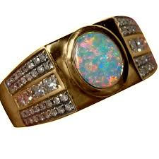 gold ring images for men mens opal ring with diamonds stylish design flashopal