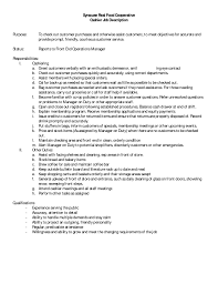Store Manager Job Description Resume by Cover Letter Grocery Store Manager Job Description Grocery Store