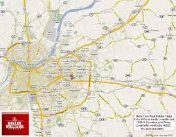 Kentucky Counties Map Map Of Louisville Ky Kentucky 502 554 9400 Neighborhood Maps