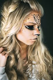 meow lion and cat inspired makeup for halloween costumes diy and