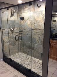 frameless glass french shower doors the header adds stability