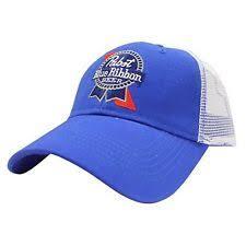 white and blue ribbon pabst blue ribbon hat ebay