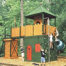 Best Images About Play Structures On Pinterest Outdoor - Backyard fort designs
