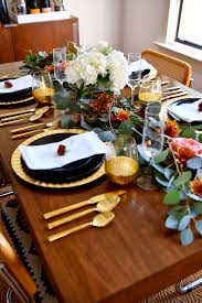 a modern thanksgiving tablescape fashion jackson