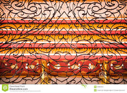 wrought iron in thai design stock photography image 35863912