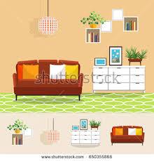 vector image room interior livingroom armchair stock vector