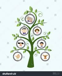 family tree cartoon family stock vector 51157609 shutterstock