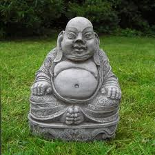 belly traditional buddha buddah garden ornament statue