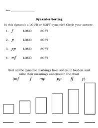 dynamic sorting worksheet music primary pinterest