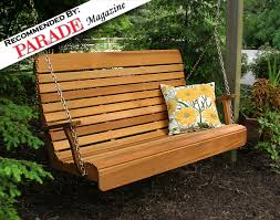 red cedar royal highback porch swing
